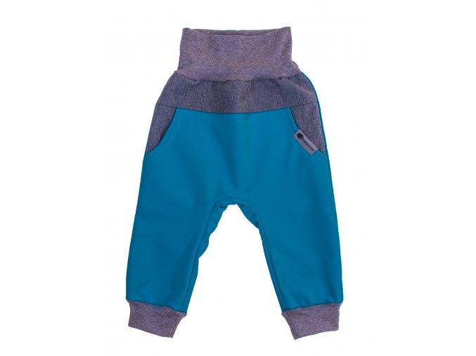Zimní softshellové kalhoty Baby color petrolejDětské a kojenecké zimní softshellové kalhoty na zimu podzim i jaro.Zateplené fleesem.Barevné kalhoty na doma, na ven i do města. Oblečení pro děti pro miminka.