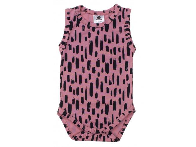 Kojenecké letní body tílko. Letní souprava pro miminka. Jednobarevné růžové body s krátkým rukávem. Kojenecké a dětské body tílka. Oblečení pro miminka a pro děti. Letní set. Spodní tílko. Tílko Lines růžová.