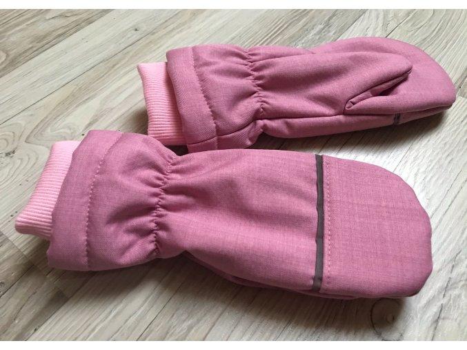 Zimní softshellové rukavice. Softshellové palčáky. Růžové rukavice. Neutrální rukavice. Reflexní pásky. Bavlněný náplet. Oblečení pro miminka. Oblečení pro děti. Dětské a kojenecké oblečení. Kvalitní české.Detail