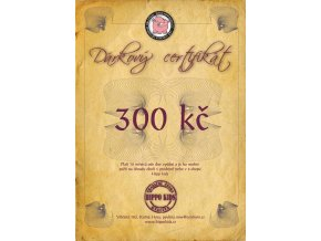 Dárkový certifikát 300 Kč
