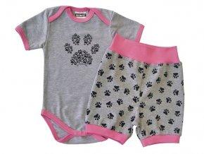 Letní kojenecký set pro miminka Tlapka Pink