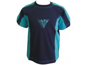 Dětské triko CLOTHING tm.modrá