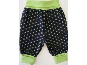 Manšestrové kojenecké tepláčky Hvězda