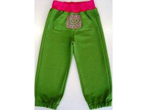 Dětské tepláky Kangaroo zelené
