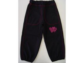 Dětské tenké Softshellové kalhoty Outdoor pink