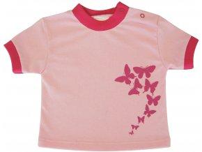 Dětské triko Motýl sv.růžová