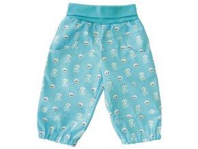 Dětské letní plátěné kalhoty Pirát modrá
