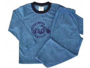 Dětské pyžamo Monster car modré