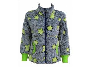 Dětská chlupatá mikina Star kiwi