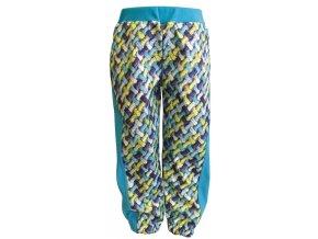Zimní Softshellové kalhoty Cord tyrkys