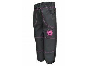 Dětské tenké Softshellové kalhoty Galaxie pink