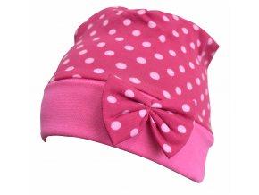 dětská čepice Puntík pink