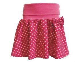 Dívčí sukně Puntík pink