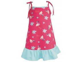 Dívčí šaty Plameňák azuro