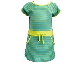 Dívčí šaty Stripe tyrkys