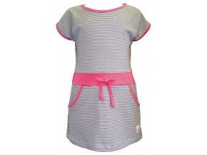 Dívčí šaty Stripe šedá