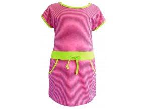 Dívčí šaty Stripe růžová