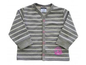 Kojenecký kabátek Stripe růžový