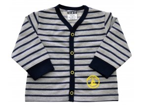 Kojenecký kabátek Stripe modrý
