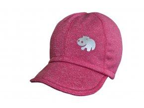 soft čepice melír pink hippo