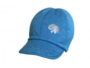 soft čepice melír tyrkys hippo