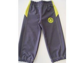 Softshellové kalhoty šedo žluté