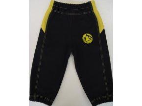 Softshellové kalhoty černo žluté