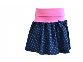 sukně Puntík modrá1