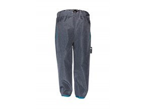 Dětské tenké softshellové kalhoty Hippokids Reflection Blue, jarní softshell, modré kalhoty