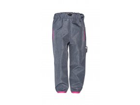 Dětské tenké softshellové kalhoty Hippokids Reflection Pink, jarní softshell, jarní softshellové kalhoty