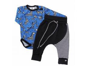 Kojenecká souprava Hippokids Zebra, oblečení pro miminka, souprava Zebra Blue
