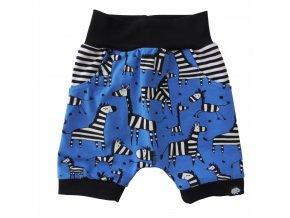 Kojenecké kraťasy Hippokids Zebra Blue, oblečení pro miminka s motivem zebry, pohodlné kraťásky