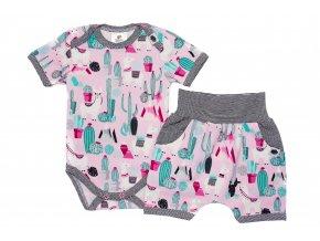 Kojenecká souprava, souprava pro miminka, letní set pro miminka, kojenecké kraťásky, oblečení pro miminka lama