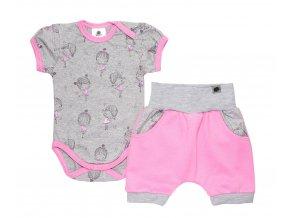 Kojenecká souprava, souprava pro miminka, kojenecké oblečení pro miminka, kraťáky a bodyčko s motivem baletky.