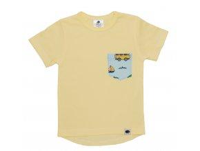 Tričko pro miminka surf modrá, kojenecké tričko surf modrá s kapsičkou.