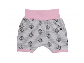 Oblečení pro miminka, kojenecké oblečení, kojenecké kraťasy Kotva Pink pro miminka, Hippokids