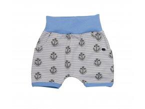 Oblečení pro miminka, kojenecké oblečení, kojenecké kraťasy Kotva Blue pro miminka, Hippokids