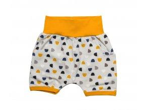 Oblečení pro miminka, kojenecké kraťasy Půlměsíc Hippokids
