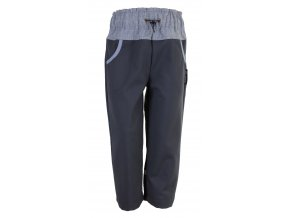 Oblečení pro miminka zimní softshellové kalhoty Reflex easy šedé. Kojenecké a dětské zimní softshellové kalhoty s šedým stahovacím pasem pro vaše děti a miminka. Softshell je zateplen fleesem (2)