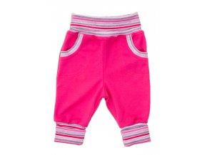 Oblečení pro miminka, kojenecké oblečení, polodupačky Hippokids Classic Dragon pink. Oblečte vaše miminko do nestárnoucí klasiky polodupaček značky Hippokids Classic s proužky. Rostoucí tepláčky s ohrnovacím nápletem.