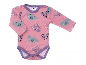 Oblečení pro miminka, kojenecká souprava, kojenecké body, tepláčky pro miminka, polodupačky Animals rose. Vyrobeno v České Republice s láskou. Roztomilá zvířátka na světle růžovém podkladu. Bodýčko