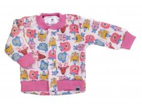 Kojenecký zateplený kabátek Animals rose. Kojenecké a dětské oblečení pro vaše miminka. Oblečení pro miminka a kojence vyrobené v české republice. Zateplený příjemným chloupkem. Zimní a podzimní kabátek.