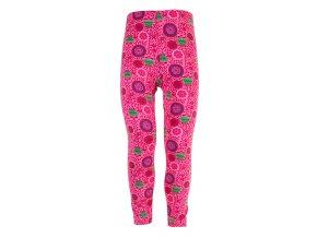 Dívčí legíny Hippokids Tulipán růžová. Kojenecké a dětské legny z bavlny. Oblečení pro miminka, kojenecké soupravy, body, tepláčky, bunda a kalhoty. Vyrobeny v Česku. Motiv květy, kytky, květiny.