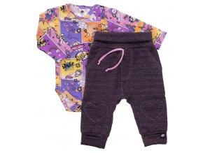 Kojenecká souprava Hippokids Vesmír růžová.Body s dlouhým rukávem s bavlněnými kvalitními tepláčky pro děti.Oblečení pro miminka a pro děti. Česká výroba oblečení. Body,tepláčky,soupravy,kalhoty, bundy.