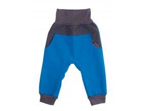 Zimní softshellové kalhoty Baby color tyrkys. Dětské a kojenecké zimní softshellové kalhoty na zimu podzim i jaro.Zateplené fleesem.Barevné kalhoty na doma, na ven i do města. Oblečení pro děti pro miminka.