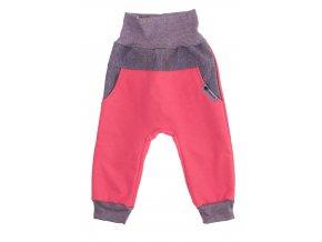 Zimní softshellové kalhoty Baby color koral.Dětské a kojenecké zimní softshellové kalhoty na zimu podzim i jaro.Zateplené fleesem.Barevné kalhoty na ven i do města. Oblečení pro děti pro miminka.