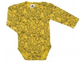 Kojenecké body Hippokids Animals hořčice.Body s dlouhým rukávem pro děti.Kvalitní oblečení pro miminka a pro děti. Body se zvářátkama. Česká výroba oblečení. Body,tepláčky,soupravy,kalhoty, bundy.