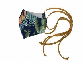 Roušky. Dospělé a dětské steriní roušky.Oblečení pro miminka, kojenecké a dětské zboží. Kojenecké a dětské oblečení. Roušky všem. Roušky s kaktusama. Příroda, kytky (1)