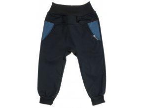 Dětské tenké softshellové kalhoty Hippokids Baby modrá. Jarní softshellové kalhoty pro děti a pro kojence. Softshell pro deštivé počasí. Oblčení pro děti a pro miminka. Černý softshell, černé kalhoty. Jarní sotf.