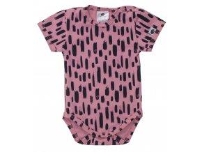 Kojenecké body s krátkým rukávem Lines růžová.Oblečení pro miminka a pro děti. Kvalitní dětské zboží. Jednoduché kojenecké body. Letní oblečení pro miminka. Růžovo černé body s krátkým rukávem. Letní oblečení.Body